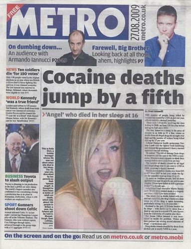 Juxtaposition Cocaine Deaths Adult Cot Death