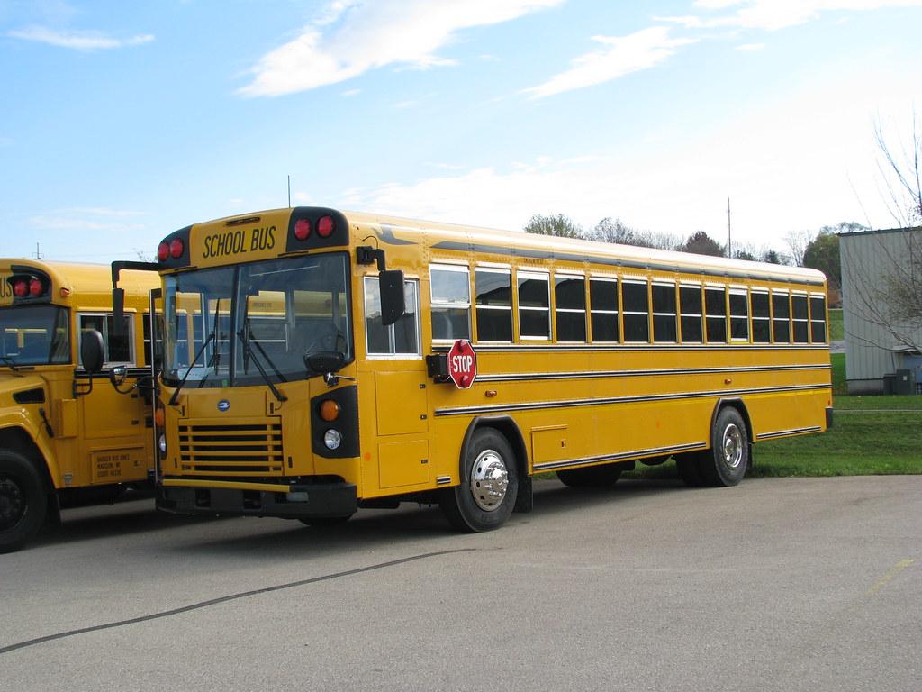 New Blue Bird school bus | Dave Markvart | Flickr