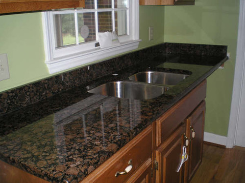 Gold Black Kitchen Tileing
