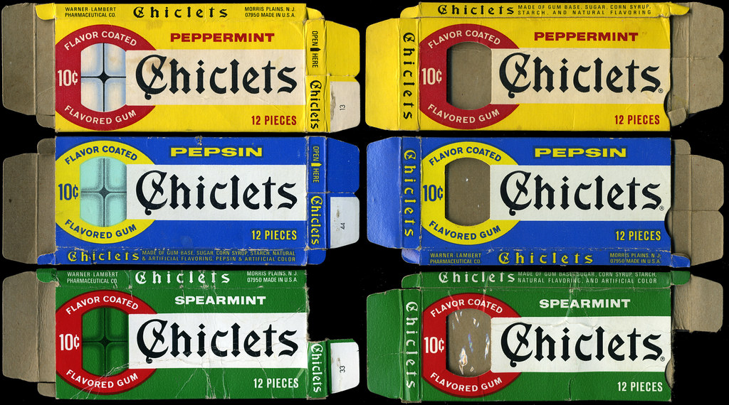 Chiclets 10-cent Flavor Coated Gum