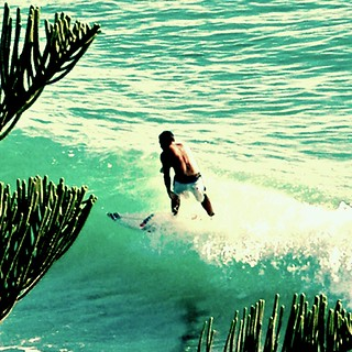 Surfer at Burleigh Heads, Gold Coast (edited with picnik) | by ElenewithanE