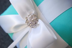 High Society Collection - Helena Pillow -Tiffany Blue and White | by yandebridal
