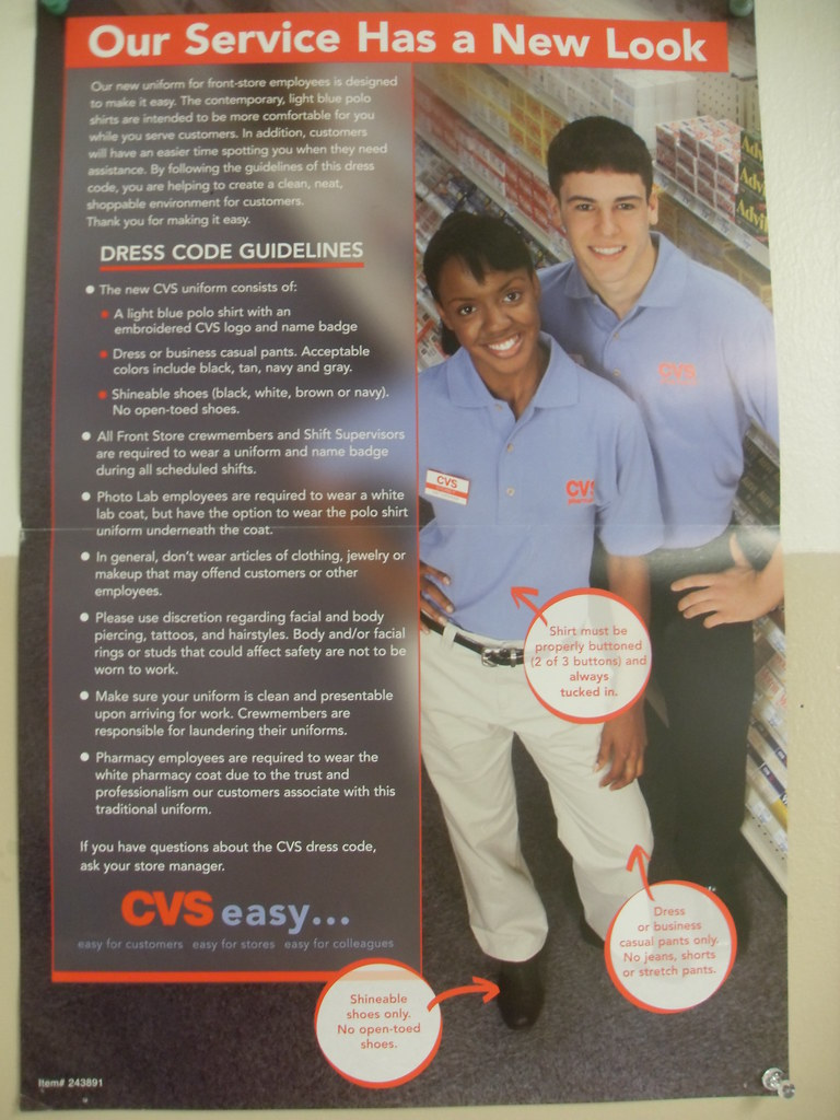 Old Cvs Dress Code These Dress Code Posters Were Sent