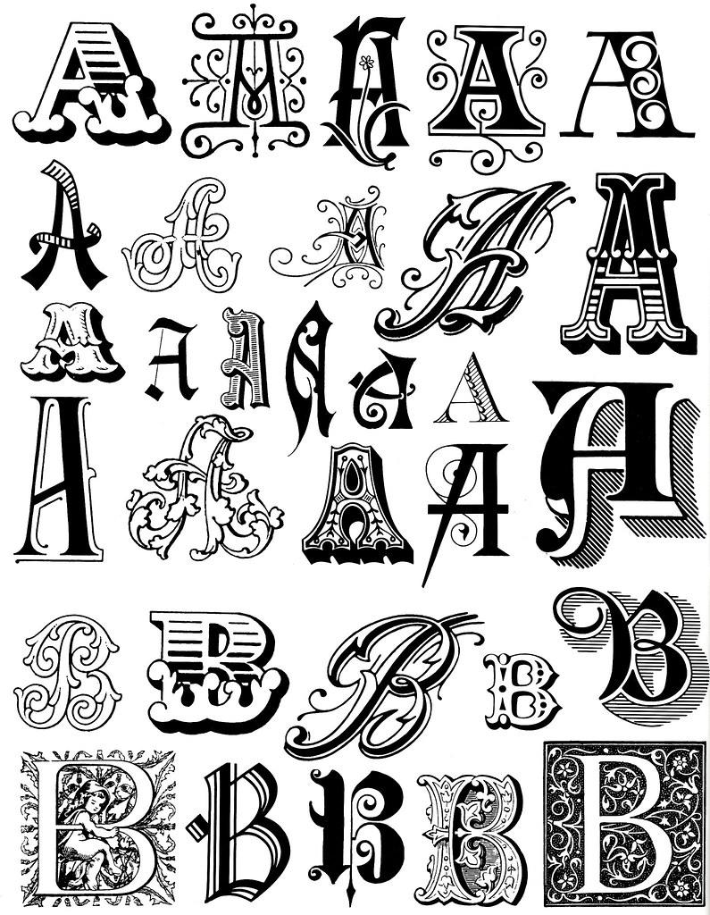 Small Decorative Letters