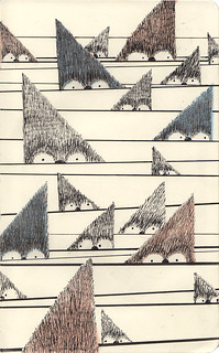 trianglos // Sketchbook page | by www.sandradieckmann.com