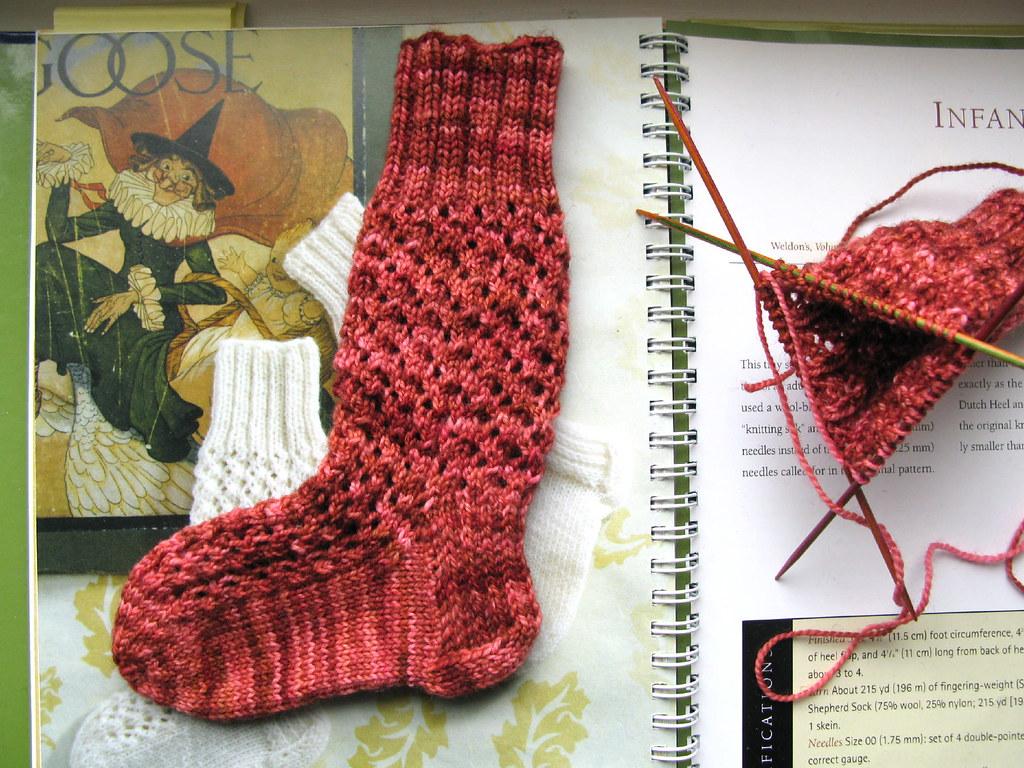 Knitting Vintage Socks Nancy Bush : Infant s fancy silk sock by nancy bush pattern source