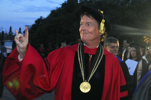 Wearing his Harvard robe in the opening procession of the 2007 Commencement ceremony | by Tower Talk