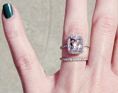 engagement ring with pink stone pave diamonds 10 | by ...love Maegan