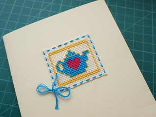 Teapot Cross Stitch Card | by Aleximo