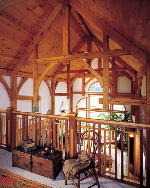 Pleasant Cottage Timber Frame Home Loft The Timber