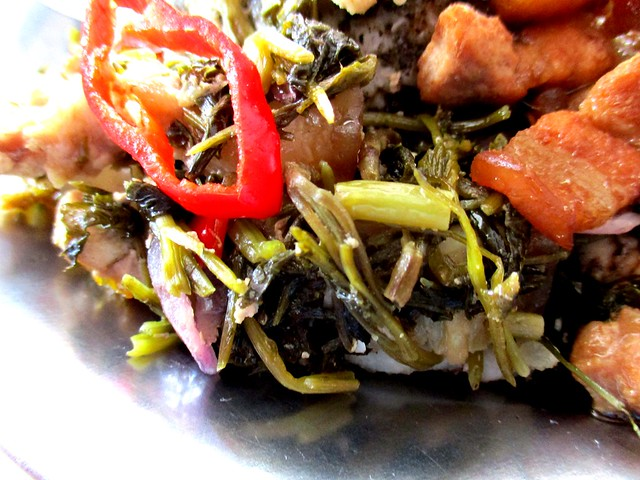 Anak Borneo kasam ensabi & pork belly