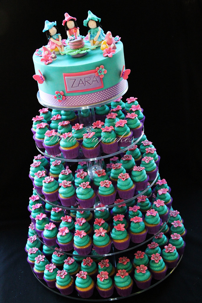 Zara S Fairy Cupcake Tower So Here Is The Complete Set Up Flickr
