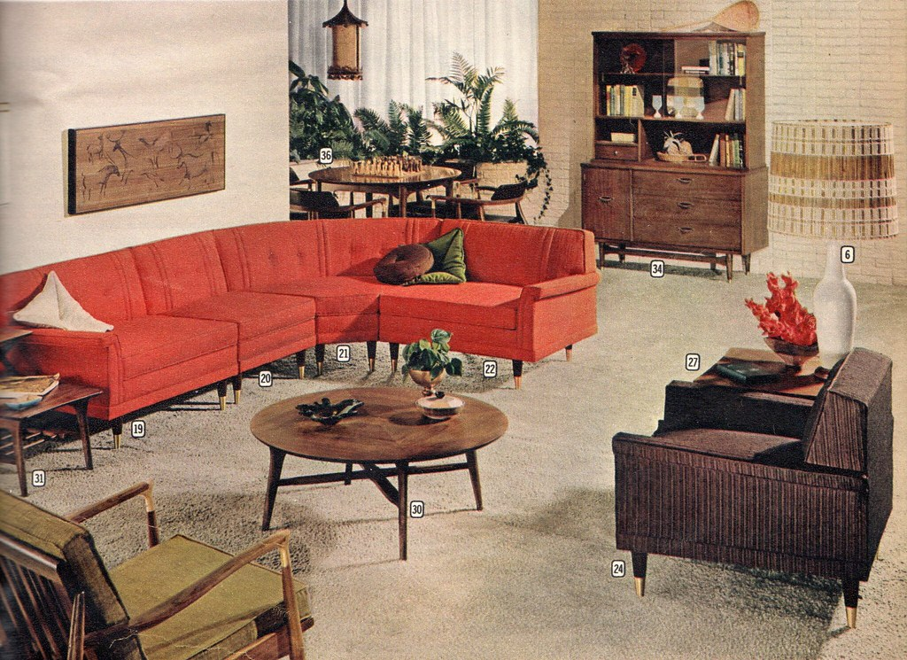 Montgomery ward suburbia furniture 1960 ethan flickr for 1960s furniture designers