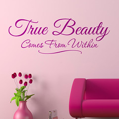 True Beauty Wall lettering Quote Graphics | by makingstatements.com