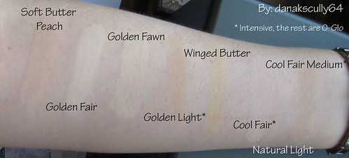 Swatches Golden Warm Cool Foundations Soft Butter