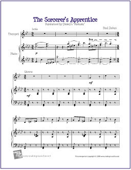 The Sorcerers Apprentice Free Sheet Music For Easy Trump