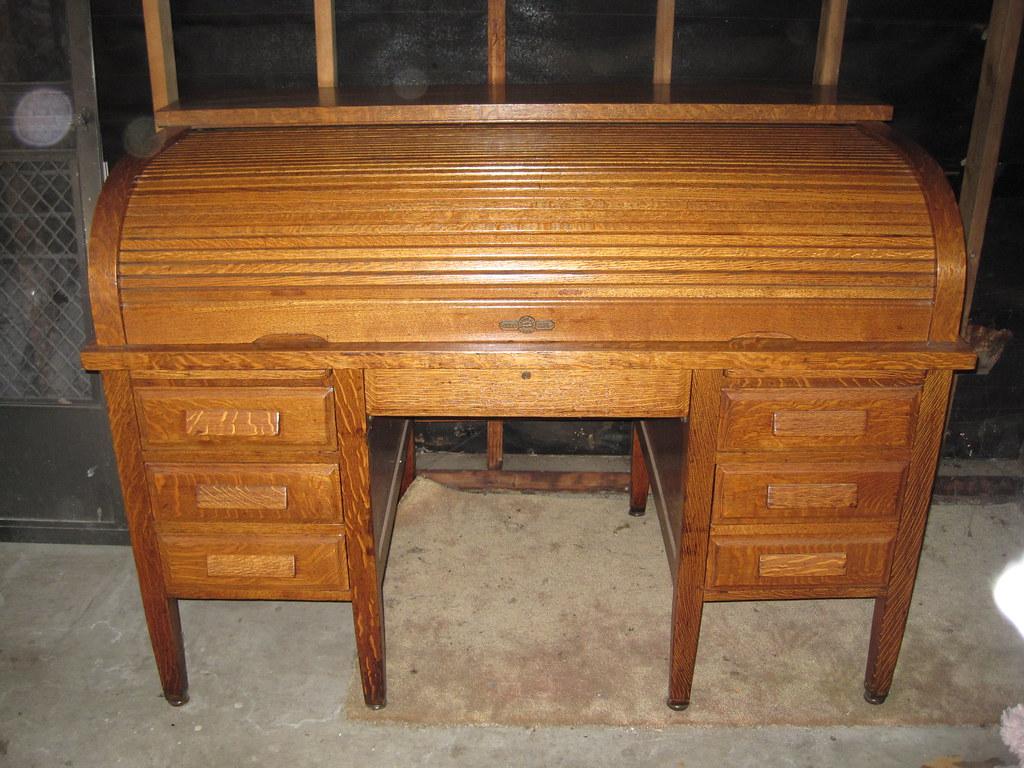 - Antique DERBY CO. Oak Roll Top Desk Flickr