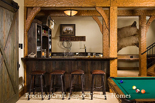 Timber Frame Game Room Complete With Bar Amp Pool Table Flickr