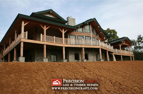 Post and Beam Log Home | by PrecisionCraft Log & Timber Homes