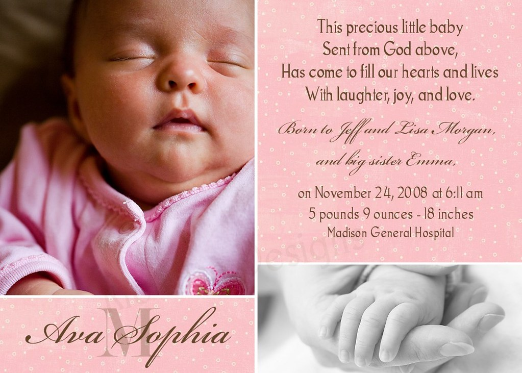 photo birth announcement or adoption announcement ava s flickr