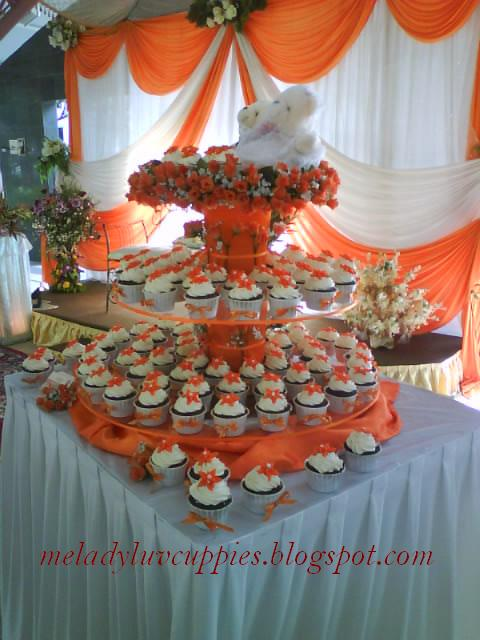Wedding Tier Orange N White Theme Jana Selamat Flickr