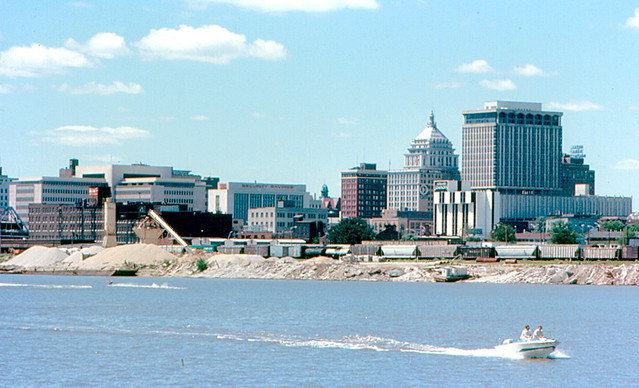 Peoria From Illinois River Another View Of Downtown