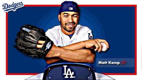 Matt Kemp of the Los Angeles Dodgers. | A psp wallpaper i ...