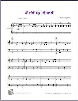 Wedding March Mendelssohn Sheet Music For Easy Piano Flickr