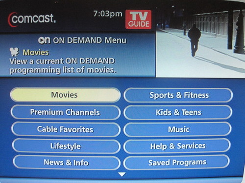 movies on demand comcast makes rapid advances in video de flickr. Black Bedroom Furniture Sets. Home Design Ideas