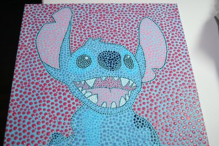 Stitch dot painting - commission | by giddygirlie