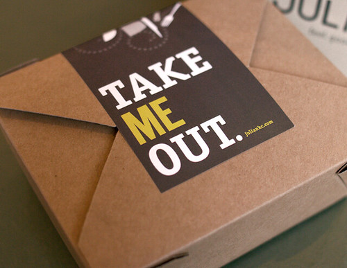 Julian Takeout Box A Brand Identity And Voice For A