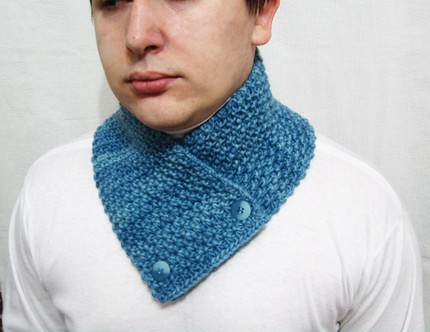 Hand Knitted Wool Scarf Neck Warmer Scarflette Cowl Chunky Flickr
