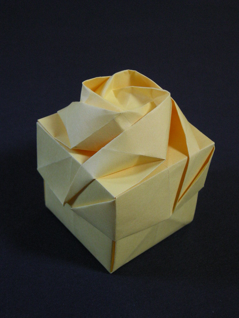 Rose Box By Shin Han Gyo Lid From One Square Copy Paper Flickr Flower Diagram Rosebox Mlisande