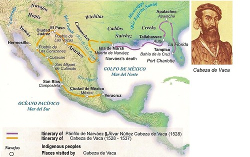 effect of christianity on cabeza de vaca Alvar nunez cabeza de vaca's epic journey as the first european to explore the interior of texas began when he was appointed treasurer and second in command of an expedition to the new world led by panfilo narvaez.