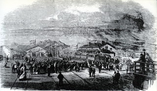 Arrival of the first train at the opening of the Cape Town to Wellington Railway 1864 | by HiltonT