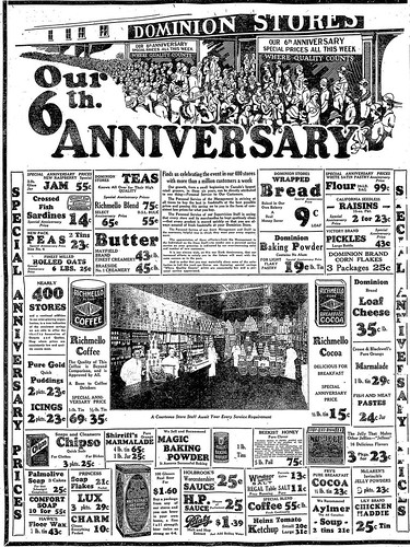 vintage ad  1 089  dominion u0026 39 s 6th anniversary sale  1925