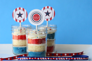4th of July Cupcakes in a Jar | by Glorious Treats