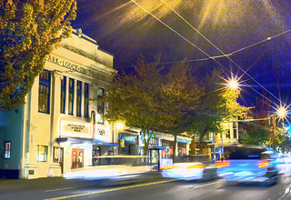 Columbia City after dark | by Dougerino