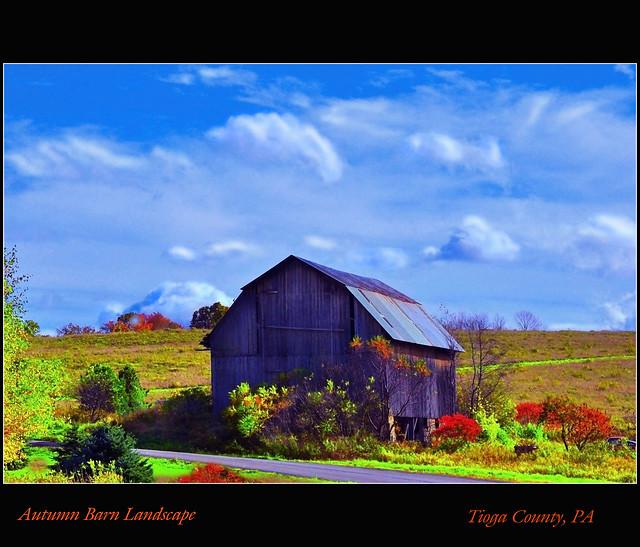 Autumn Barn Landscape Flickr Photo Sharing