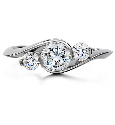 Platinum Three Stone Ring Engagement Ring Platinum Three S