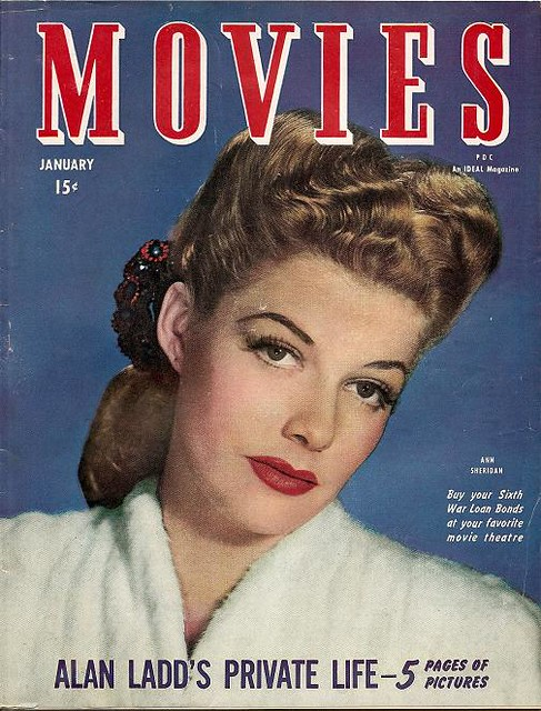 movies magazine january 1945 ann sheridan cover. Black Bedroom Furniture Sets. Home Design Ideas