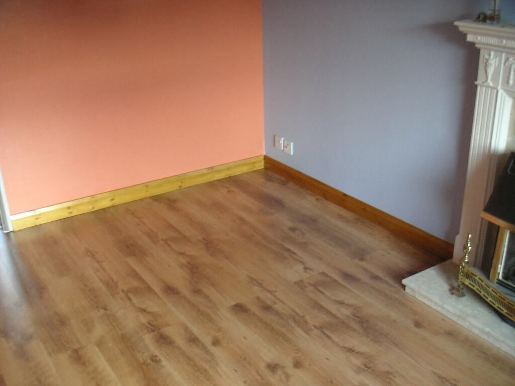 Laminate Flooring Freshly Laid Laminate Flooring In My