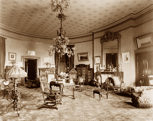 Yellow Oval Room White House 1890 Gaswizard Flickr