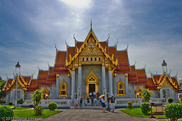 Wat Benchamabophit  The Marble Temple in Bangkok, Thailand.…  Flickr