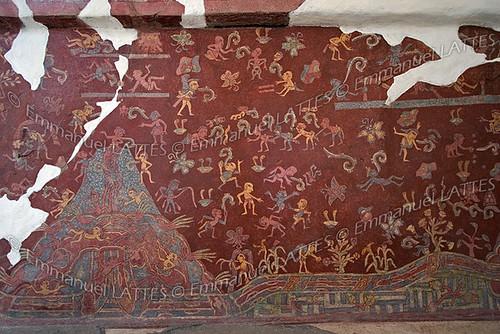 Fresque Murale Au Palais De Tepantitla Teotihuac 225 N Mexic