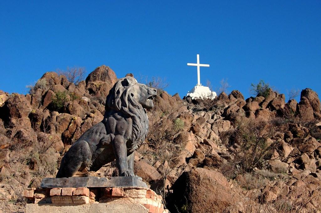 Grotto Hill at Mission San Xavier del Bac, Tucson Arizona ...