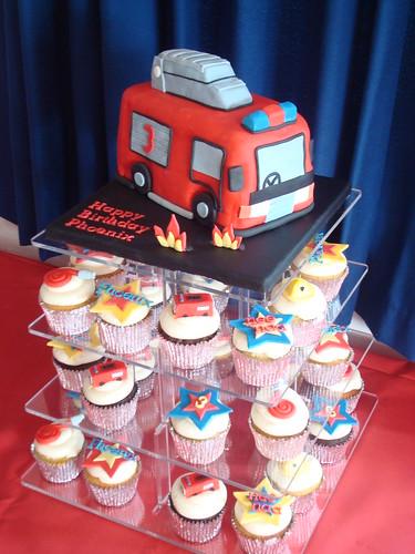 Fire Engine Cake Decorations