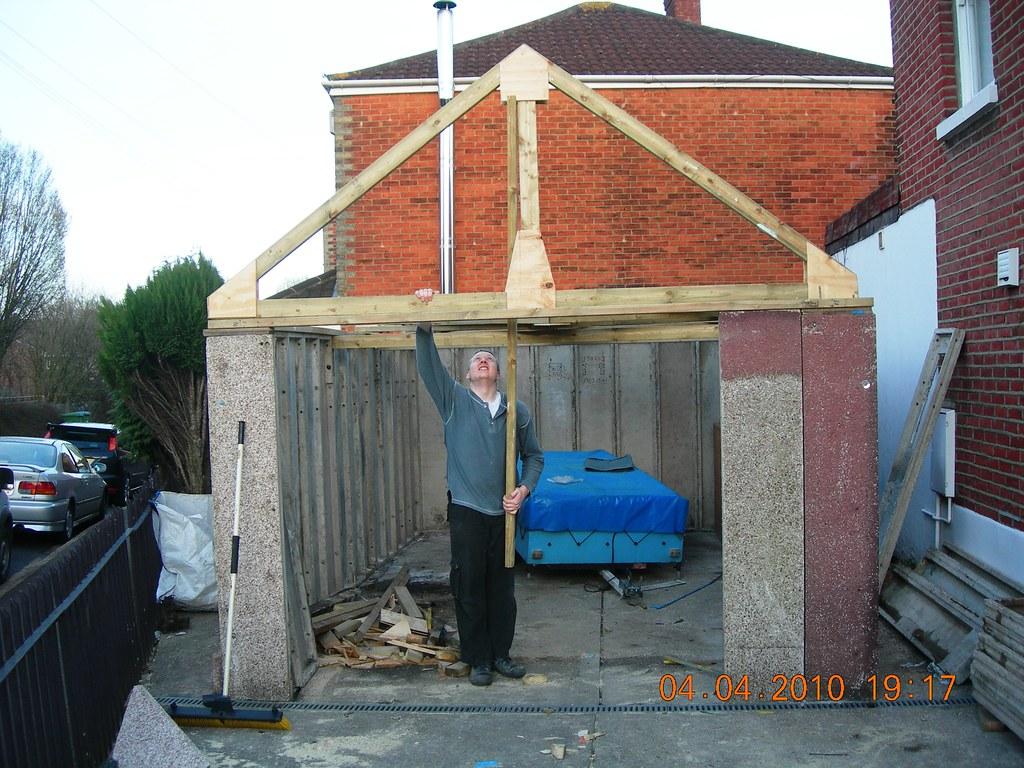 modular garage roof truss final assembly DSCN2141 | John C ...