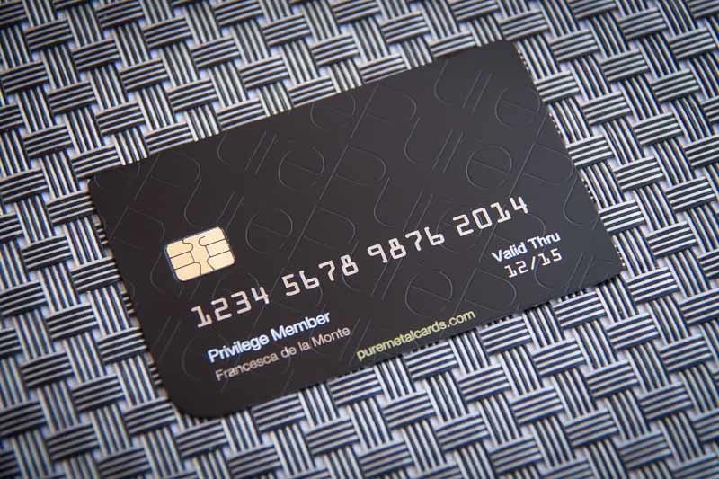White Credit Card Design