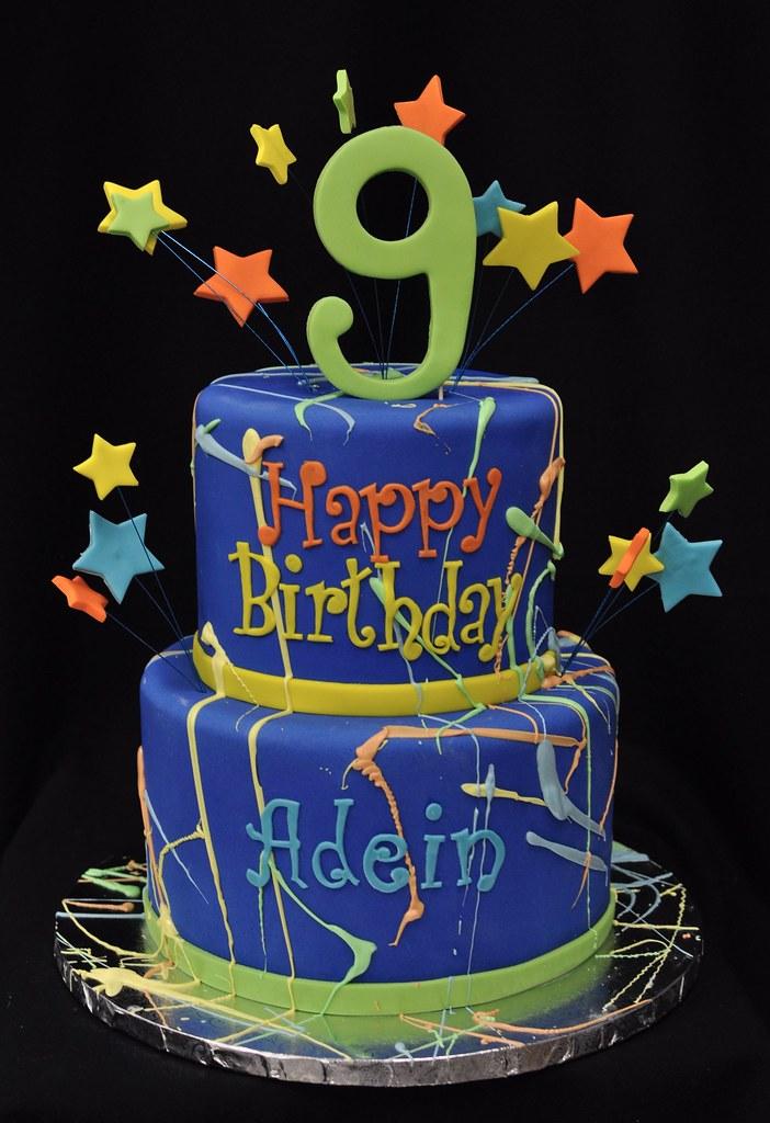 Paint splatter birthday cake Jenny Wenny Flickr
